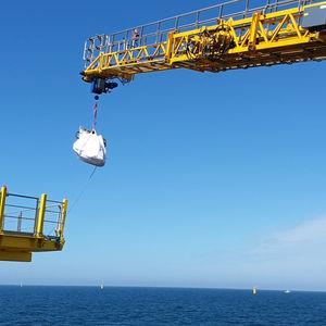 passerelle pour navire de service offshore / télescopique / hydraulique