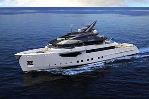 mega-yacht de croisière / explorer / avec timonerie / en composite