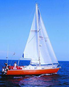 grand-voile / pour voilier de croisière / coupe horizontale / en Dacron®