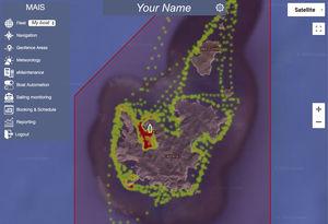 système de contrôle pour navire / pour yacht / pour chantier naval / pour marina