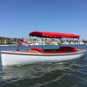 barque électrique / hors-bord / en fibre de verre / traditionnelle