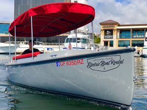 barque électrique / POD-drive / en fibre de verre / traditionnelle