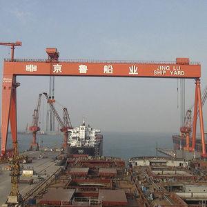 grue pour chantier naval / sur rail / à portique
