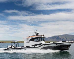 bateau de travail / hors-bord / bateau pneumatique semi-rigide