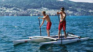 catamaran à rames bi-place