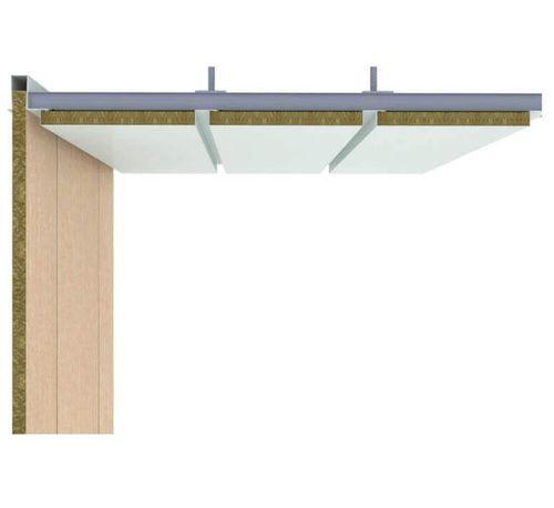 panneau sandwich pour aménagement de navire / pour plafond de navire / aluminium / en acier