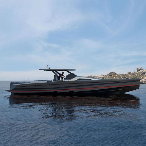motor-yacht de croisière / en aluminium / T-Top