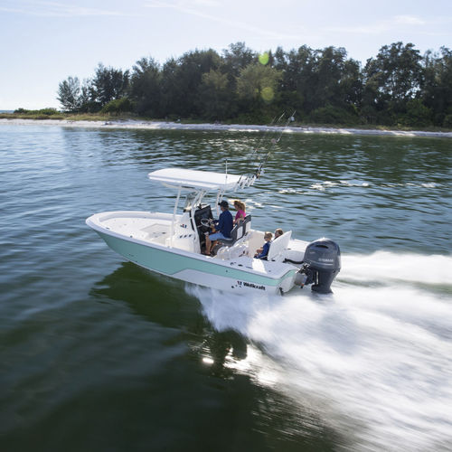 bay boat hors-bord / à console centrale / de pêche sportive / max. 8 personnes