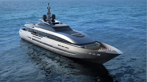super-yacht de croisière / rapide / raised pilothouse / hard-top
