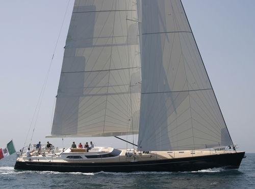 sailing-yacht de course-croisière / salon de pont / 4 cabines / bout-dehors