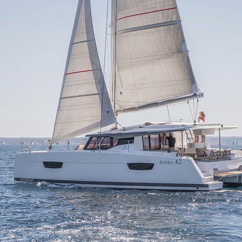 catamaran / de croisière / traditionnel / cockpit ouvert