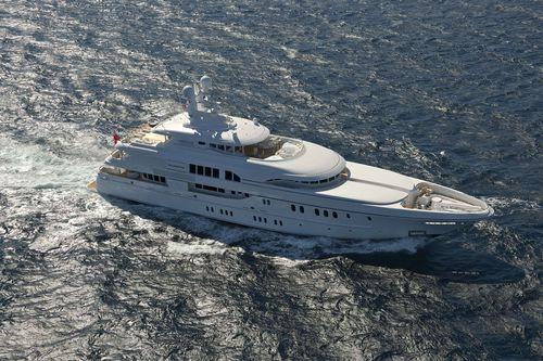 mega-yacht de croisière / avec timonerie