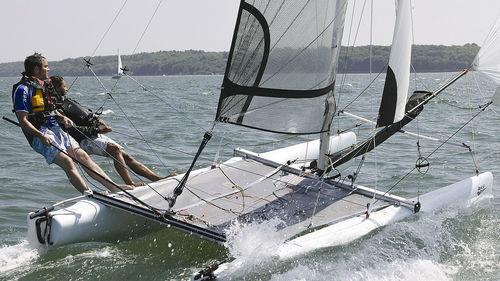 catamaran de sport de loisir / de régate / double / simple trapèze