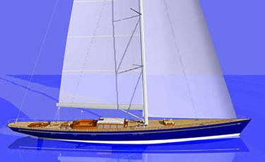 sailing-superyacht de croisière / cockpit ouvert / sloop