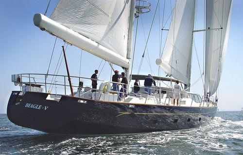 sailing-superyacht de croisière / cockpit ouvert / en aluminium / 4 cabines