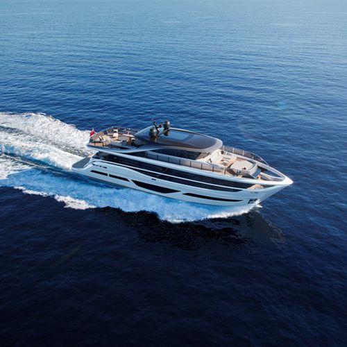 motor-yacht de croisière / raised pilothouse