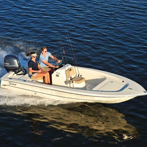 bay boat hors-bord / à console centrale / de pêche sportive / max. 5 personnes