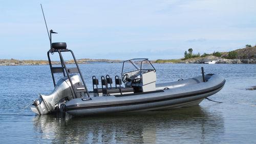 bateau de service offshore / bateau de travail / hors-bord / bateau pneumatique semi-rigide