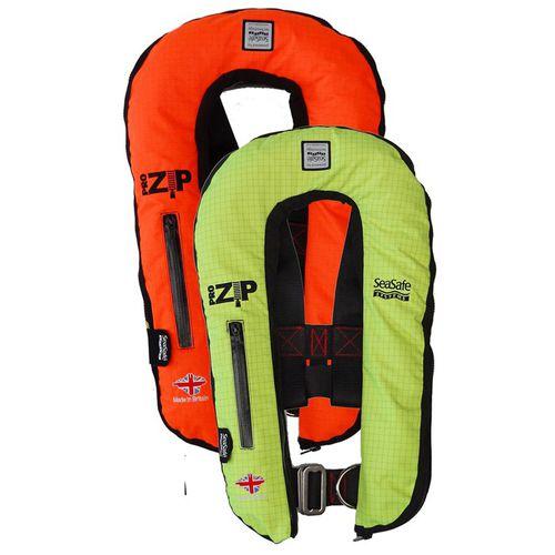 gilet de sauvetage gonflable automatique / 170 N / avec harnais de sécurité / ignifuge