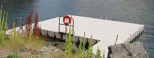 ponton modulable / flottant / d'amarrage / pour marina