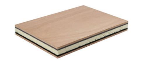 panneau sandwich pour isolation phonique / pour isolation thermique / mousse / bois