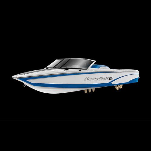 deck-boat in-bord / open / à double console / de wakeboard