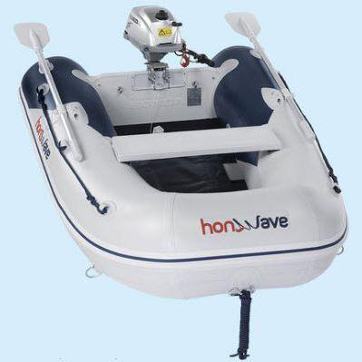 bateau pneumatique hors-bord / pliable / pour la pêche / bi-place