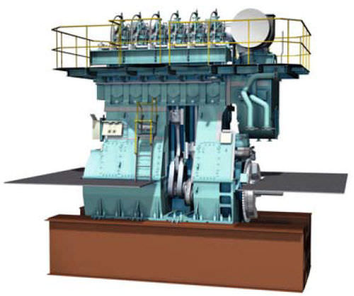 moteur lent pour navire
