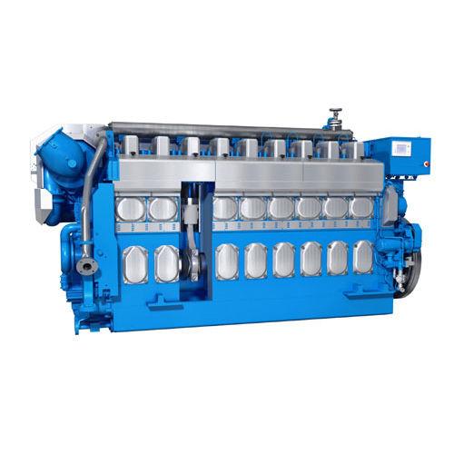 moteur semi rapide pour navire / diesel / à gaz / bi-carburant