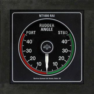 indicateur pour bateau / d'angle de gouvernail / analogique