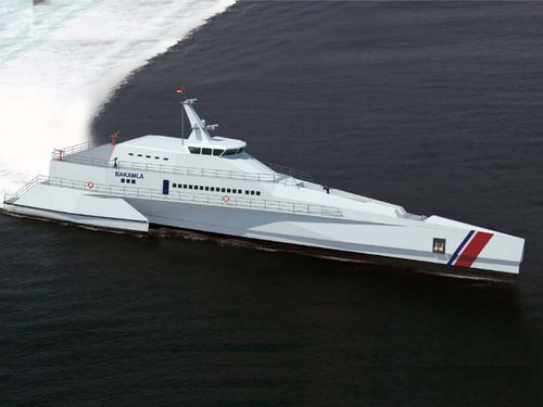navire spécial de surveillance / trimaran