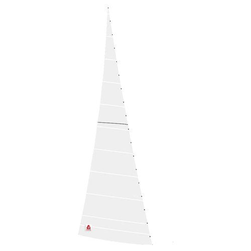 trinquette / pour voilier de croisière / coupe tri-radiale / coupe horizontale