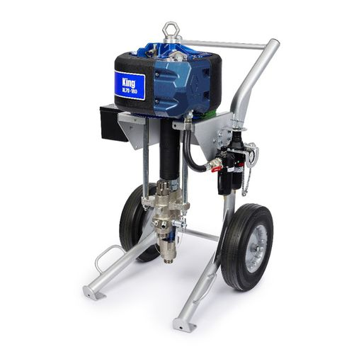 machine de pulvérisation de peinture mobile / pour chantier naval