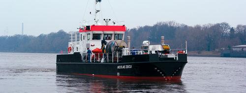 bateau professionnel bateau antipollution / in-bord / en aluminium