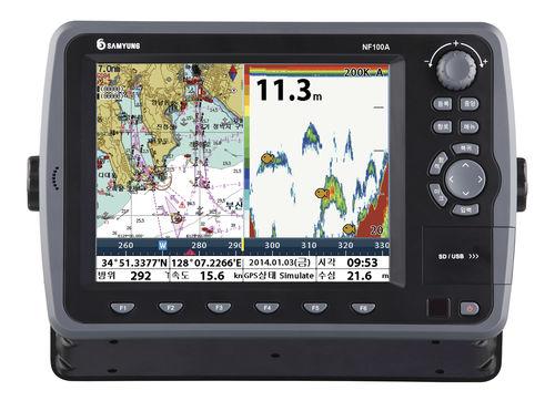 lecteur de cartes / GPS / pour bateau / couleur