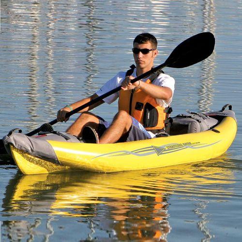 kayak sit-on-top / gonflable / d'eau vive / monoplace