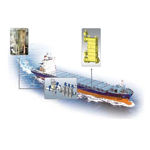 traitement des eaux de ballast / pour navire / avec filtre / avec stérilisateur UV