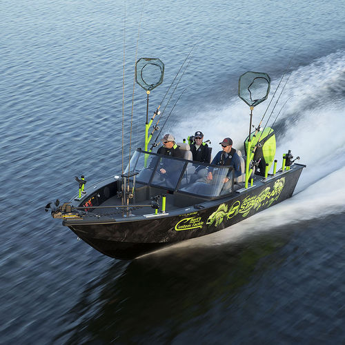 bay boat hors-bord / à double console / de pêche sportive / en aluminium