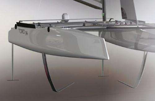 catamaran / de course / cockpit ouvert / en carbone