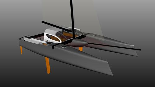 catamaran / de course-croisière / cockpit ouvert / à cockpit fermé