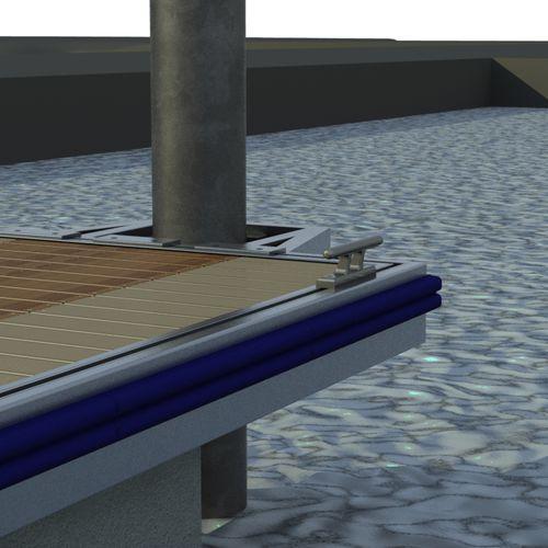 guide-pieu pour ponton / en acier
