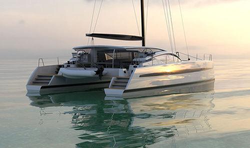 catamaran / de croisière / cockpit ouvert / en carbone