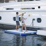 plateforme pour yacht / de baignade / gonflable / d'embarquement
