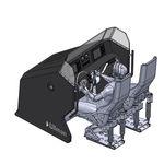 console de pilotage centrale / 2 places / avec pare-brise
