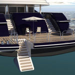 échelle pour yacht / fixe / de baignade / de poupe