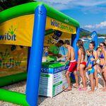 jeu aquatique abri soleil / gonflable