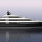mega-yacht de croisière / avec timonerie / en acier / à étrave verticale