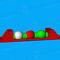 jeu aquatique matelas / bouée / poutre d'équilibre / saut en longueur
