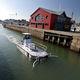 bateau professionnel barge de récupération des déchets / barge antipollution / in-bord / en aluminium