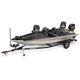 bass boat hors-bord / à console latérale / de pêche sportive / en aluminium